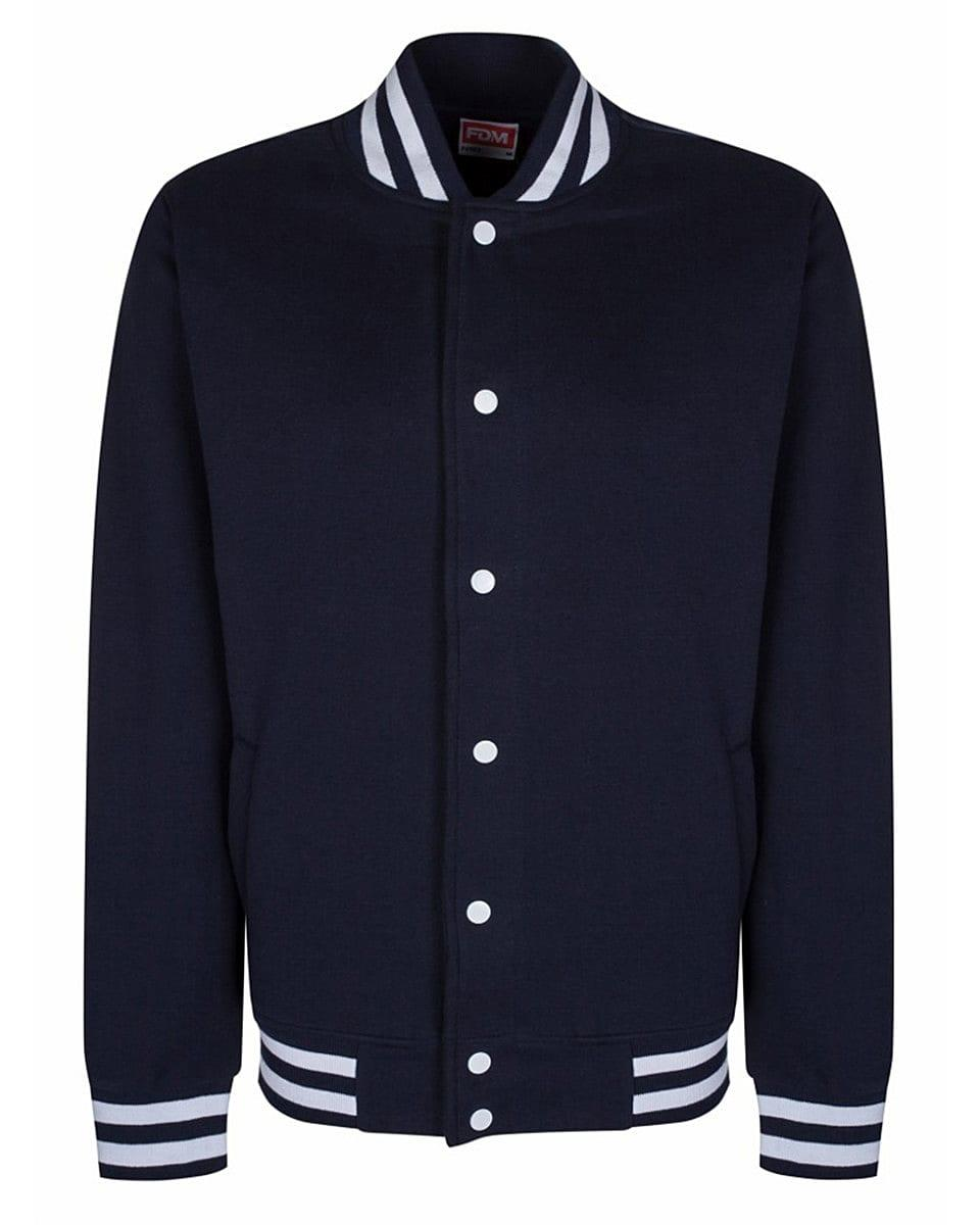 FDM Campus Jacket in Navy / White (Product Code: FV003)
