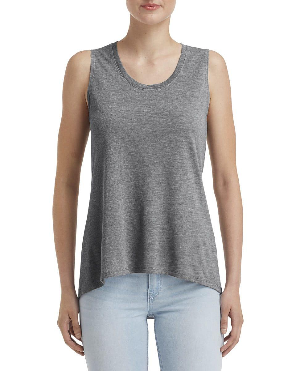 Anvil Womens Freedom Sleeveless T-Shirt in Heather Graphite (Product Code: 37PVL)
