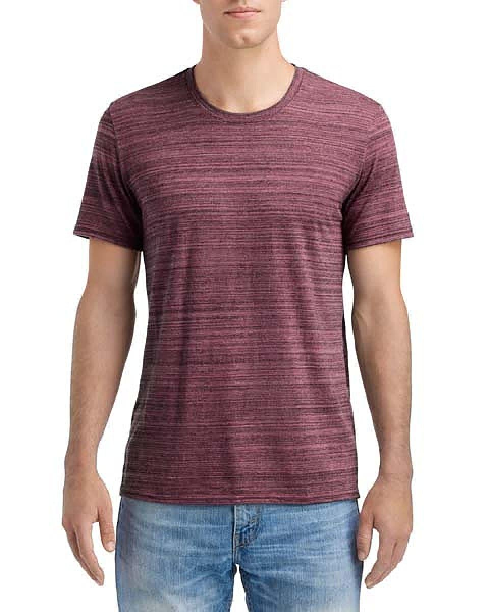 Anvil Adult Streak T-Shirt in ID Maroon (Product Code: 6750ID)