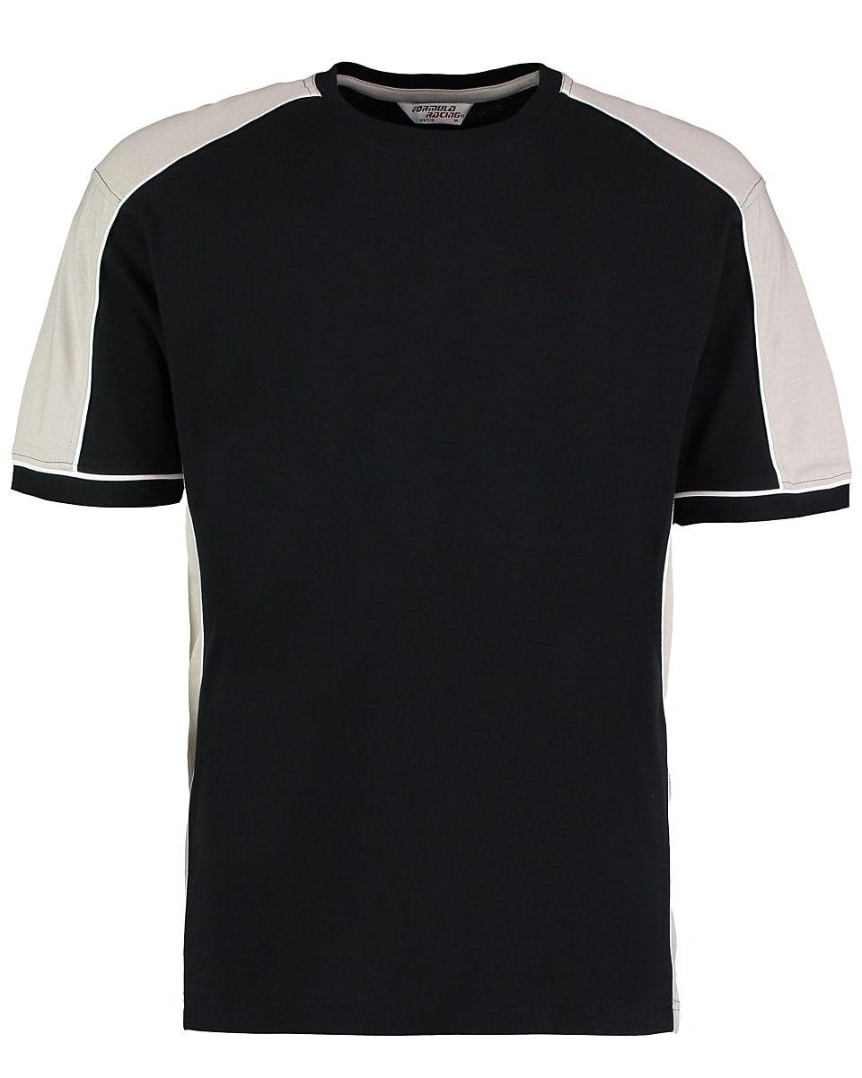 Formula Racing Estoril T-Shirt in Black / Silver Grey (Product Code: KK516)