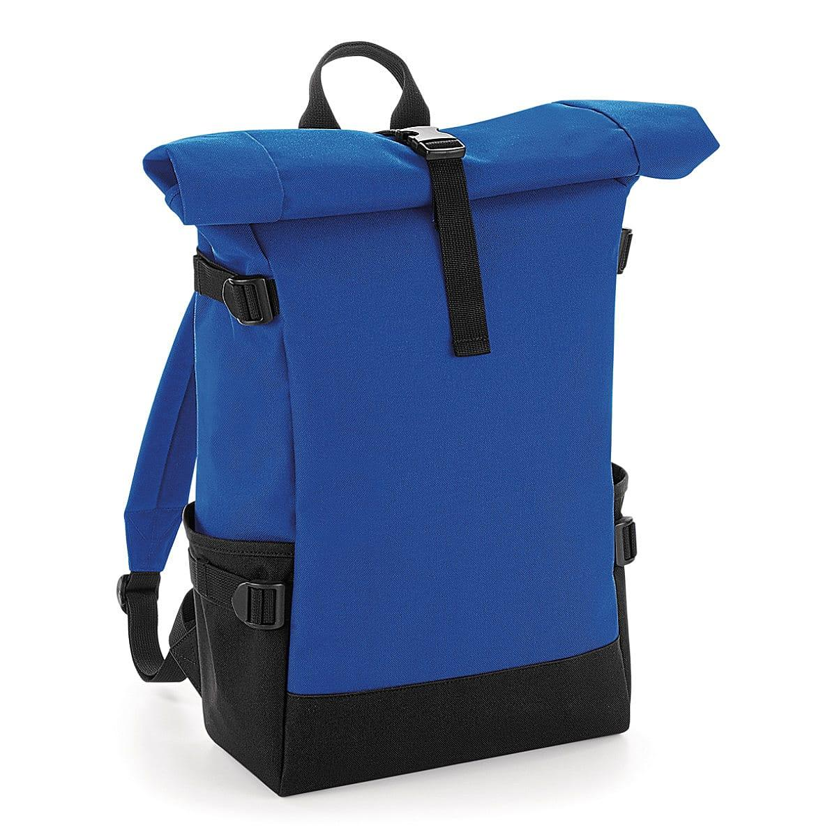 Bagbase Block Roll-Top Backpack in Bright Royal / Black (Product Code: BG858)