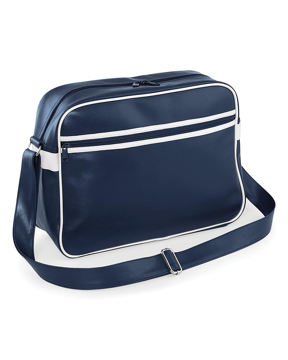 Bagbase Original Retro Messenger in French Navy / White (Product Code: BG91)