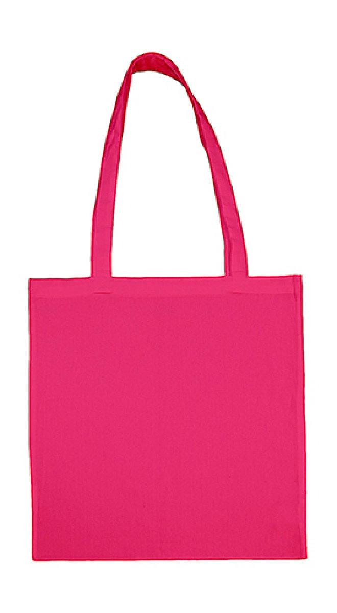 Jassz Bags Beech Cotton Long-Handle Bag in Magenta (Product Code: 3842LH)