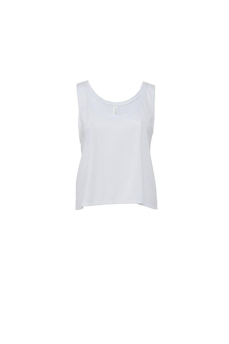 Bella Womens Flowy Boxy Tank in White (Product Code: BE8880)