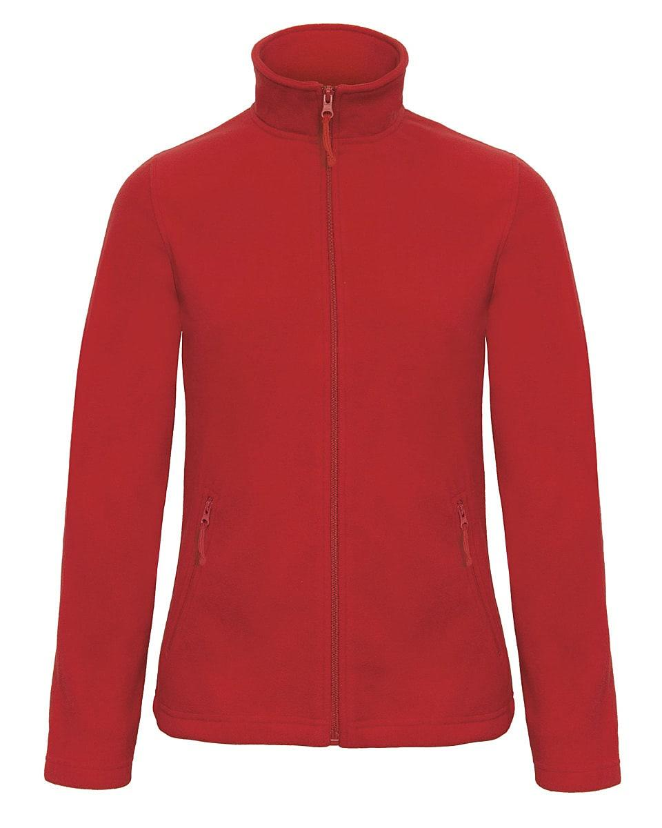 B&C Womens ID.501 Fleece Jacket in Red (Product Code: FWI51)