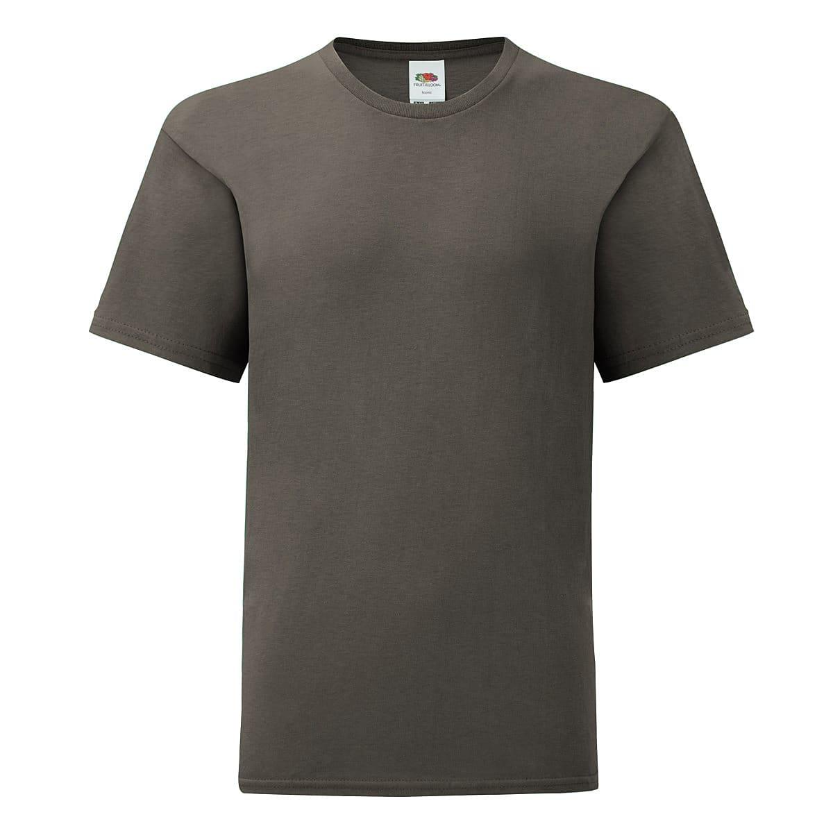 Fruit Of The Loom Kids Iconic T-Shirt in Light Graphite (Product Code: 61023)