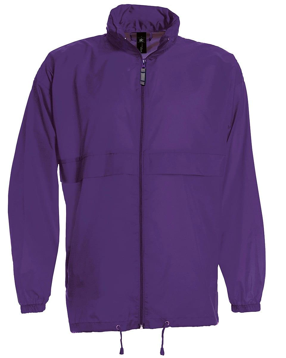 B&C Mens Sirocco Lightweight Jacket in Purple (Product Code: JU800)