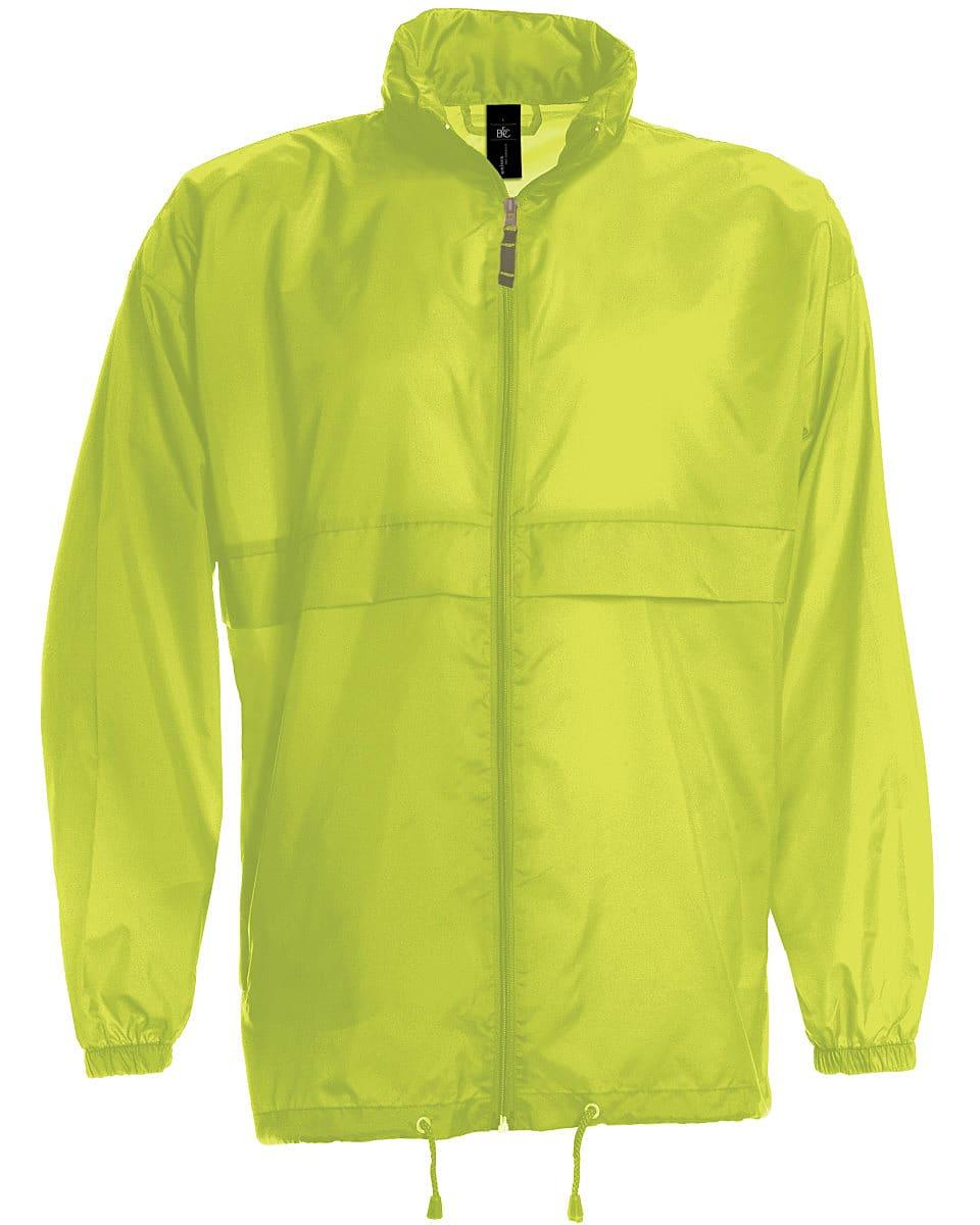B&C Mens Sirocco Lightweight Jacket in Ultra Yellow (Product Code: JU800)