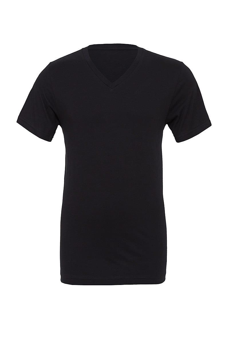 Bella Canvas Mens Jersey Short-Sleeve Vneck T-Shirt in Black (Product Code: CA3005)