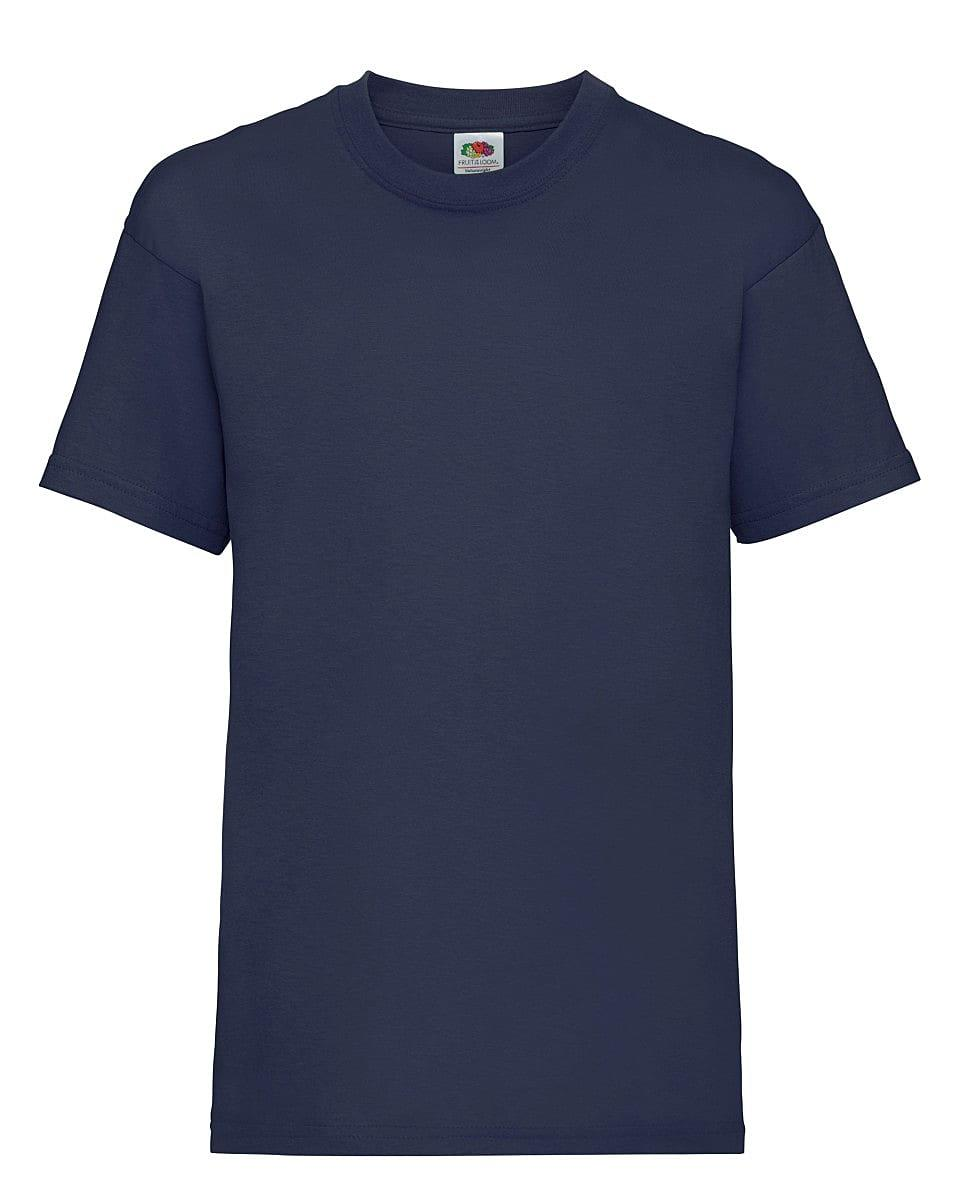 Fruit Of The Loom Childrens Valueweight T-Shirt in Deep Navy (Product Code: 61033)