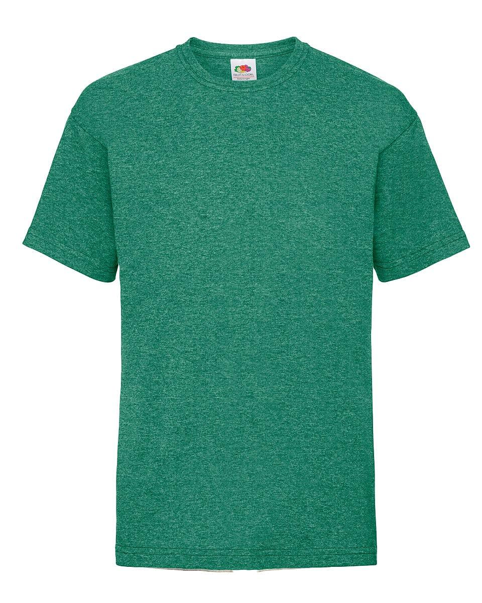 Fruit Of The Loom Childrens Valueweight T-Shirt in Retro Heather Green (Product Code: 61033)