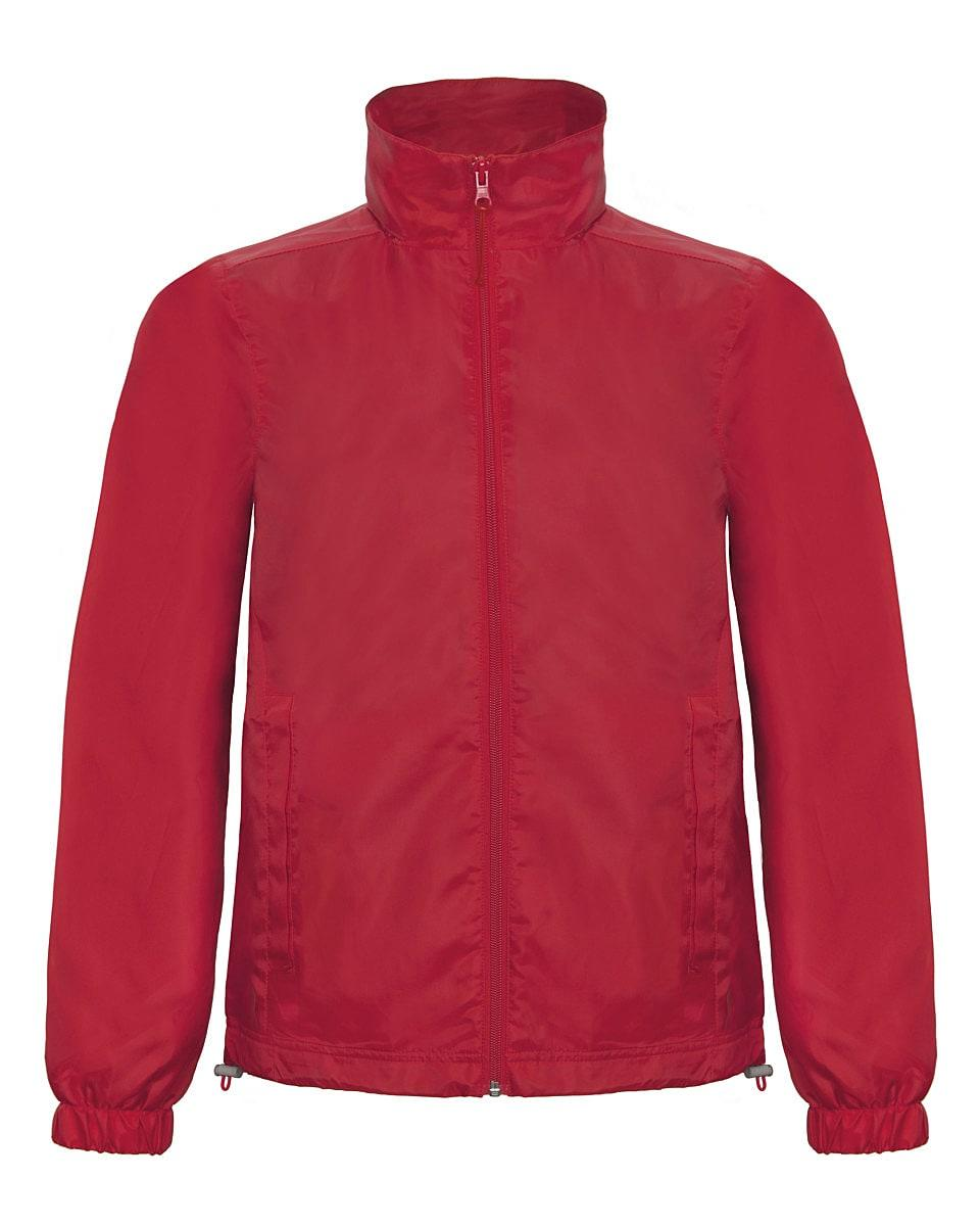 B&C Mens ID.601 Jacket in Red (Product Code: JUI60)