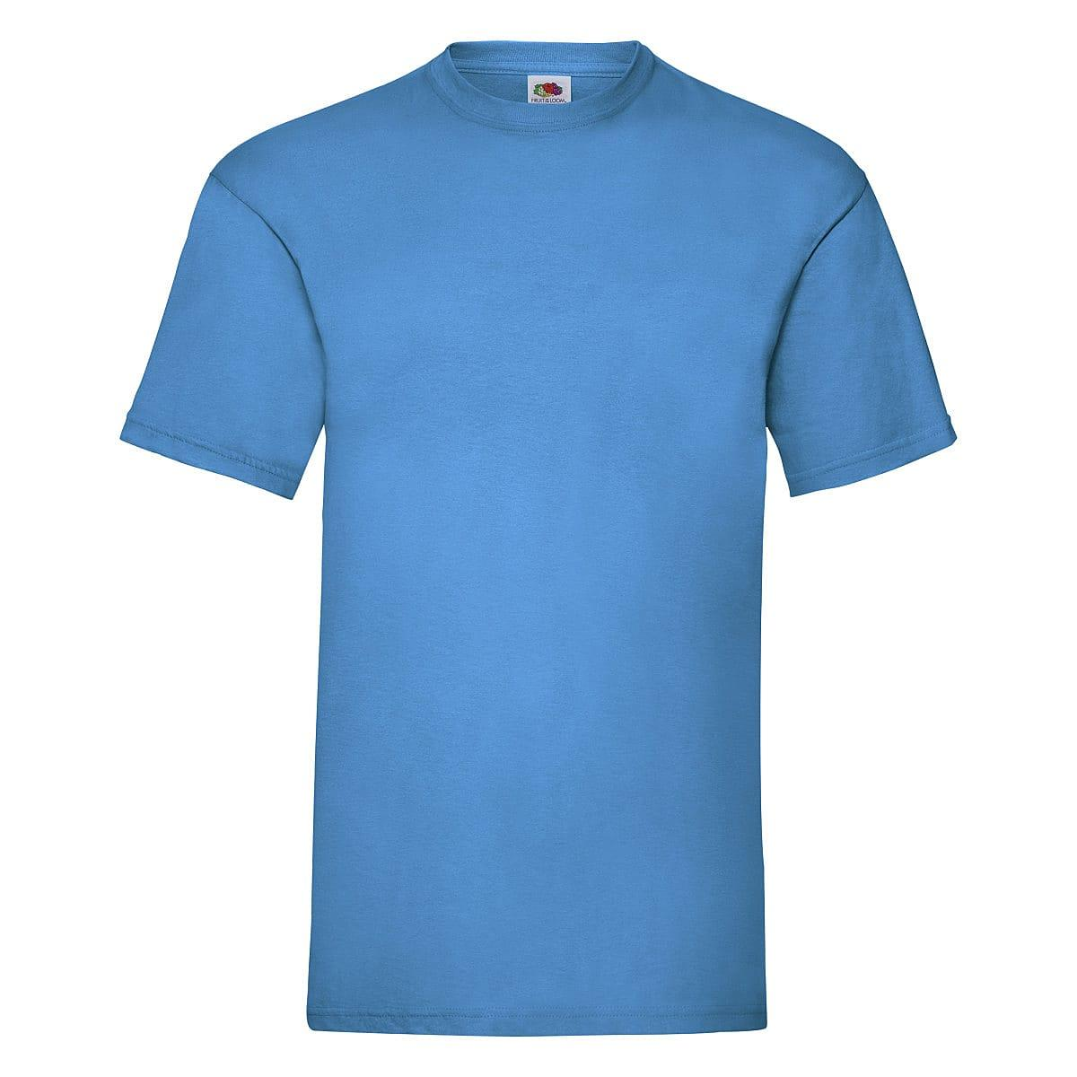 Fruit Of The Loom Valueweight T-Shirt in Azure Blue (Product Code: 61036)