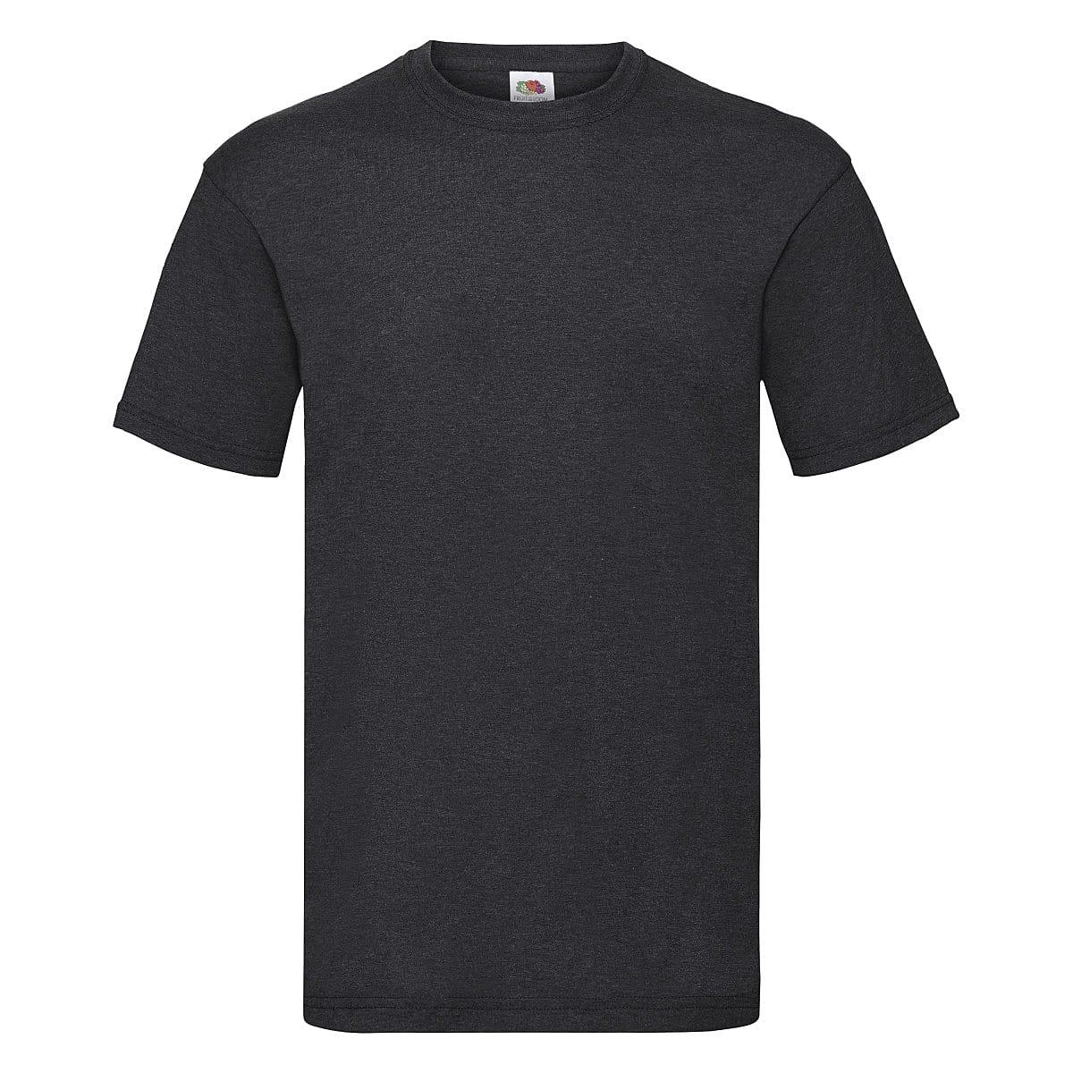 Fruit Of The Loom Valueweight T-Shirt in Dark Heather (Product Code: 61036)