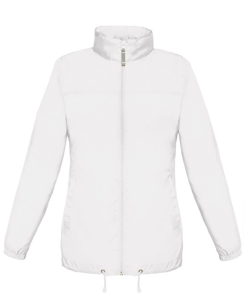 B&C Womens Sirocco Lightweight Jacket in White (Product Code: JW902)