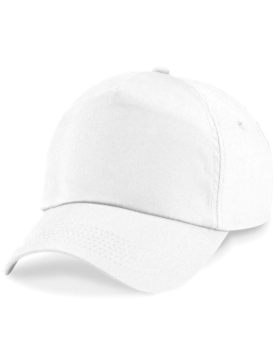 Beechfield Junior Original 5 Panel Cap in White (Product Code: B10B)