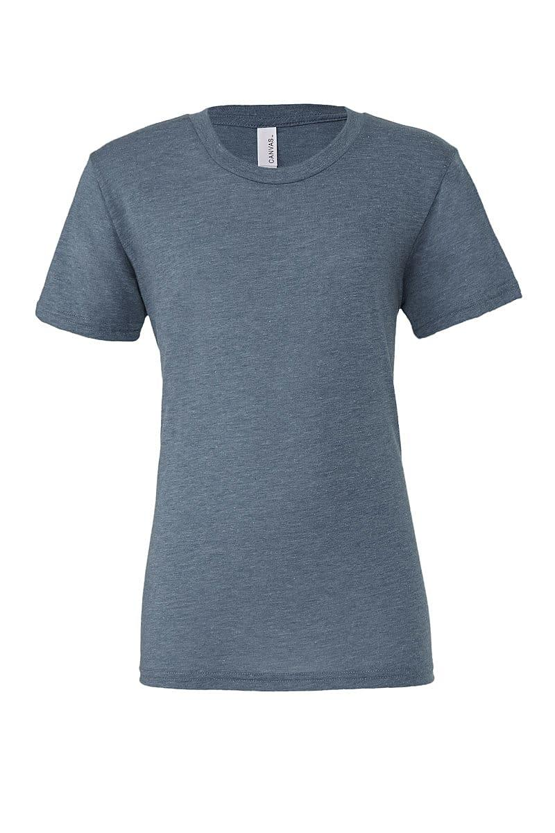 Bella Canvas Mens Tri-blend Short-Sleeve T-Shirt in Denim Triblend (Product Code: CA3413)