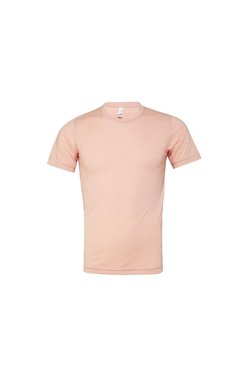 Bella Canvas Mens Tri-blend Short-Sleeve T-Shirt in Peach Triblend (Product Code: CA3413)