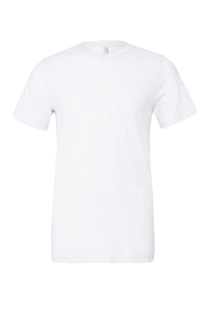 Bella Canvas Mens Tri-blend Short-Sleeve T-Shirt in Solid White Triblend (Product Code: CA3413)