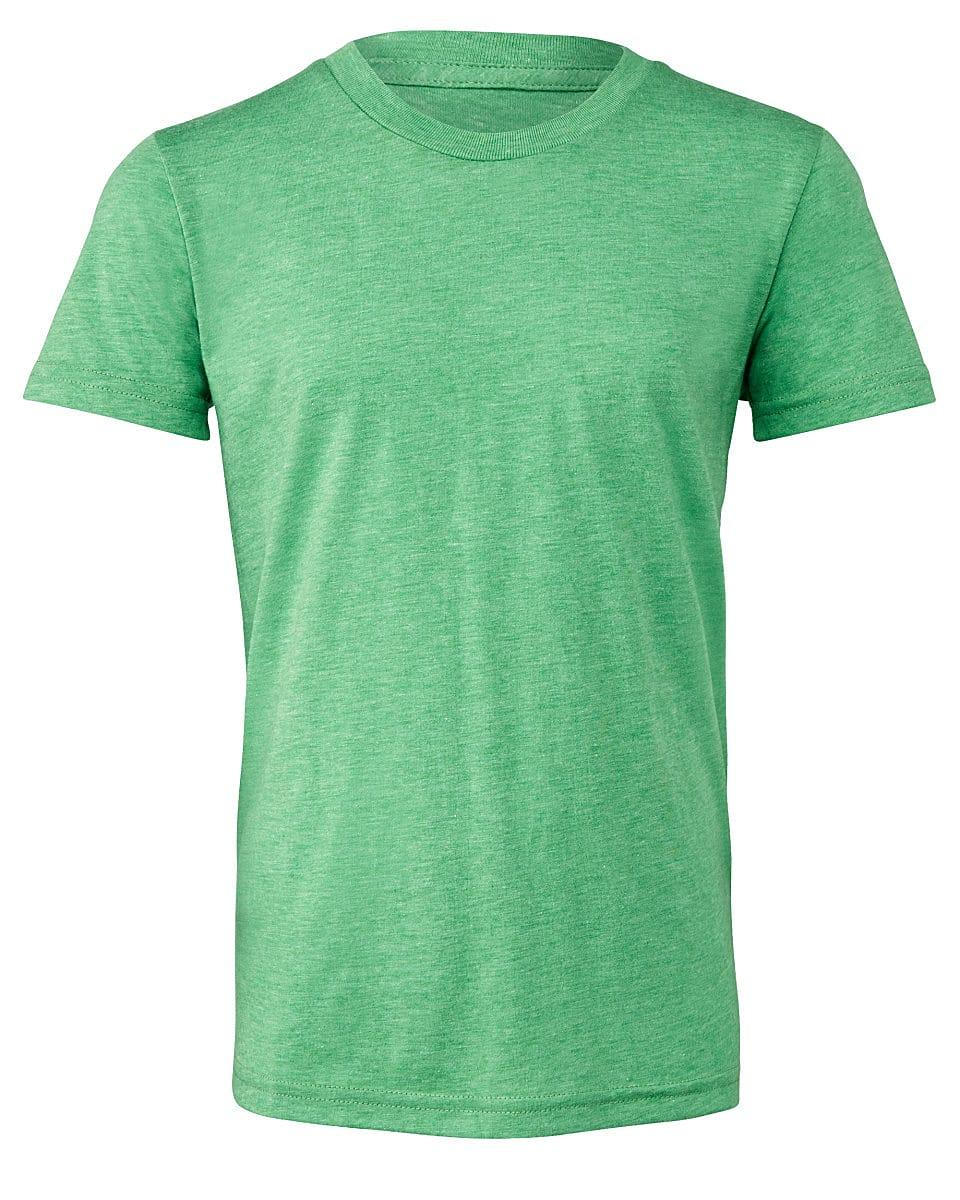 Bella Canvas Youth Triblend Short-Sleeve T-Shirt in Green Triblend (Product Code: CA3413Y)