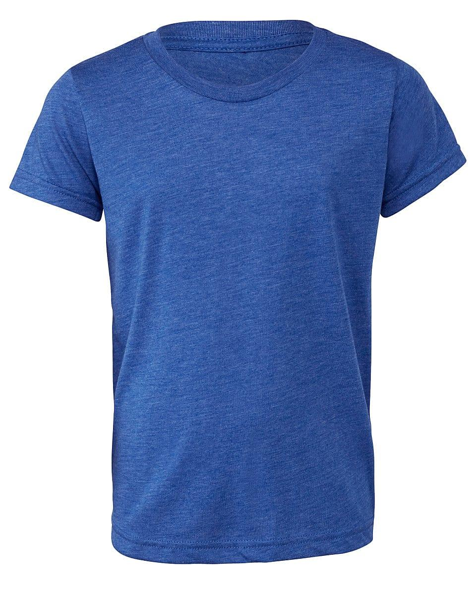 Bella Canvas Youth Triblend Short-Sleeve T-Shirt in True Royal Triblend (Product Code: CA3413Y)