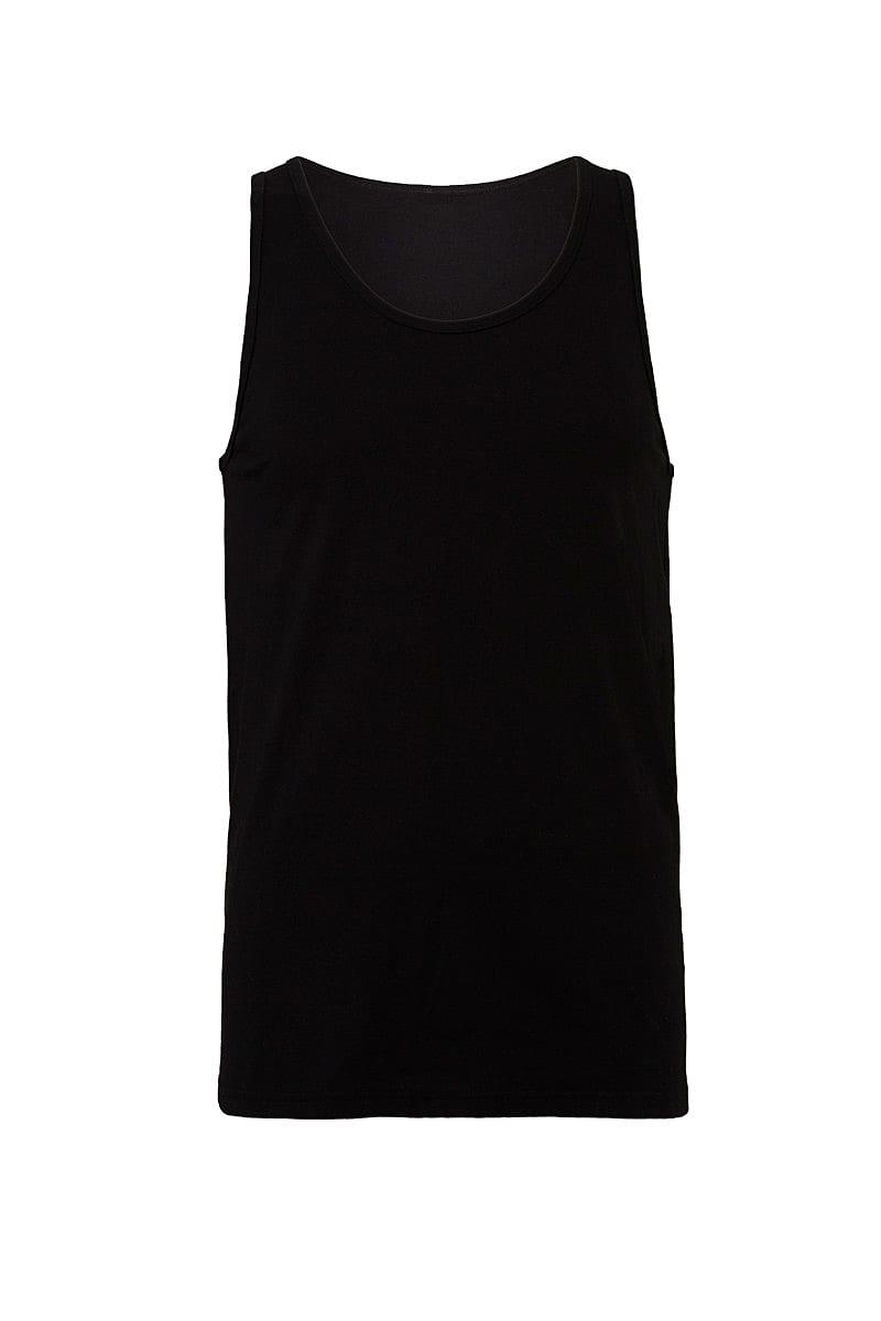 Bella Unisex Jersey Tank in Black (Product Code: CA3480)