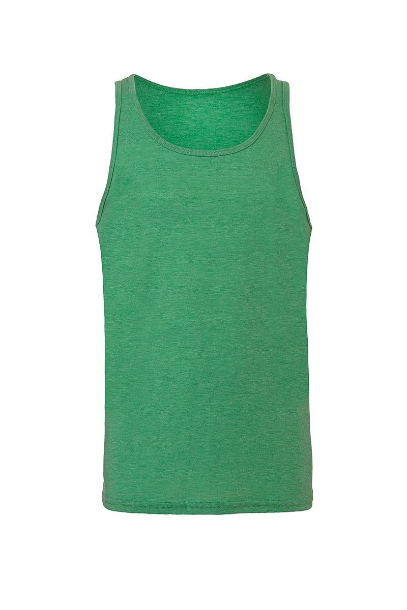 Bella Unisex Jersey Tank in Green Triblend (Product Code: CA3480)