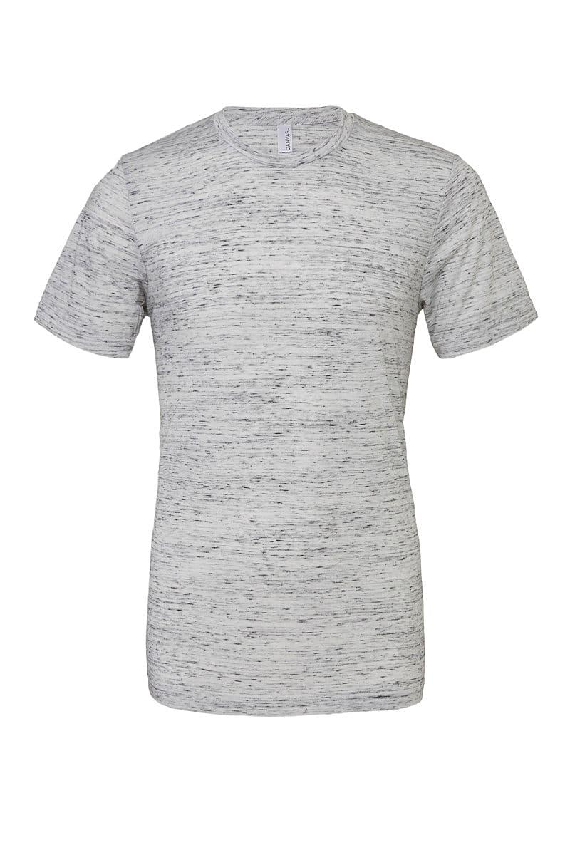 Bella Canvas Unisex Poly-Cotton Short-Sleeve T-Shirt in White Marble (Product Code: CA3650)