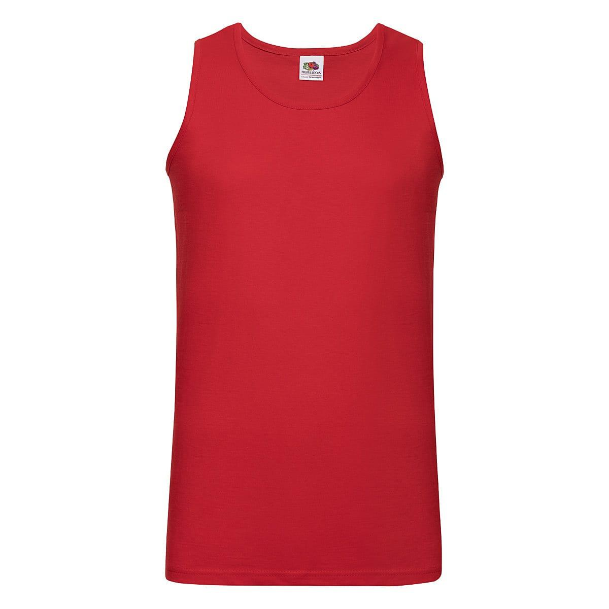 Fruit Of The Loom Athletic Vest in Red (Product Code: 61098)