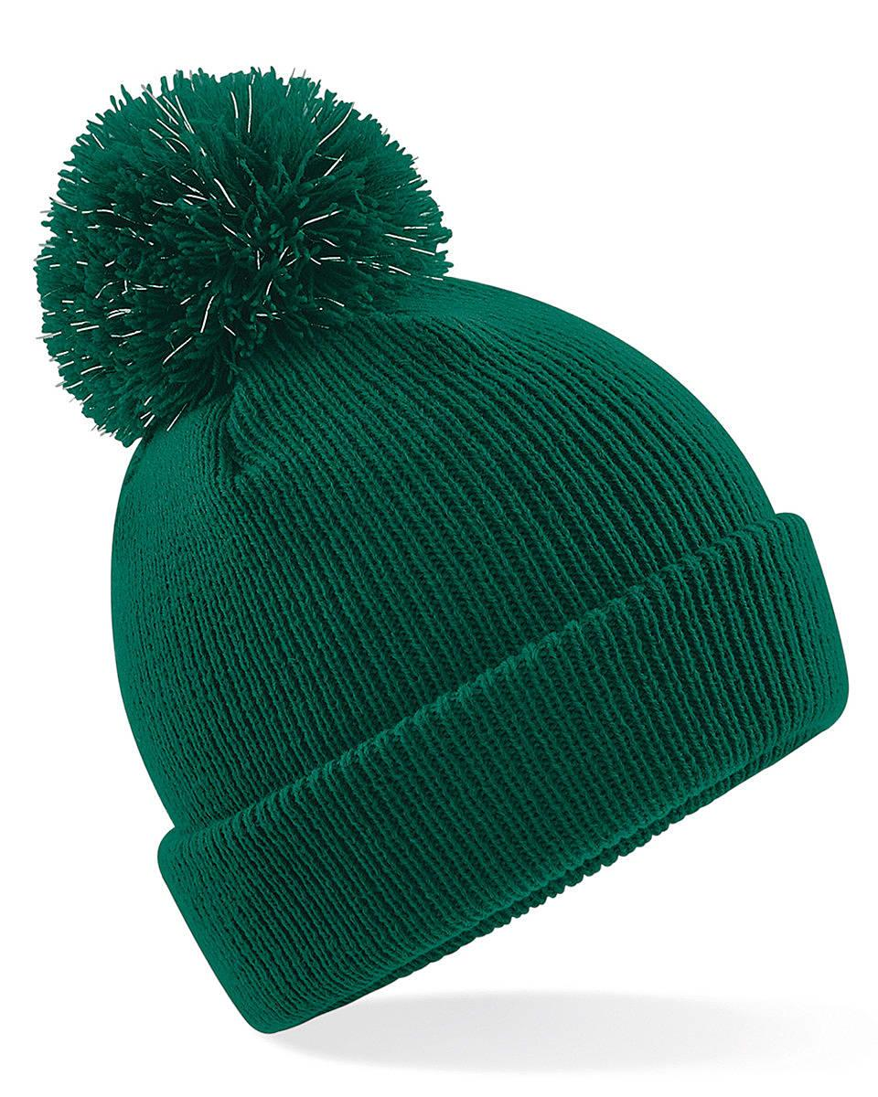 Beechfield Junior Reflective Beanie Hat in Bottle Green (Product Code: B406B)