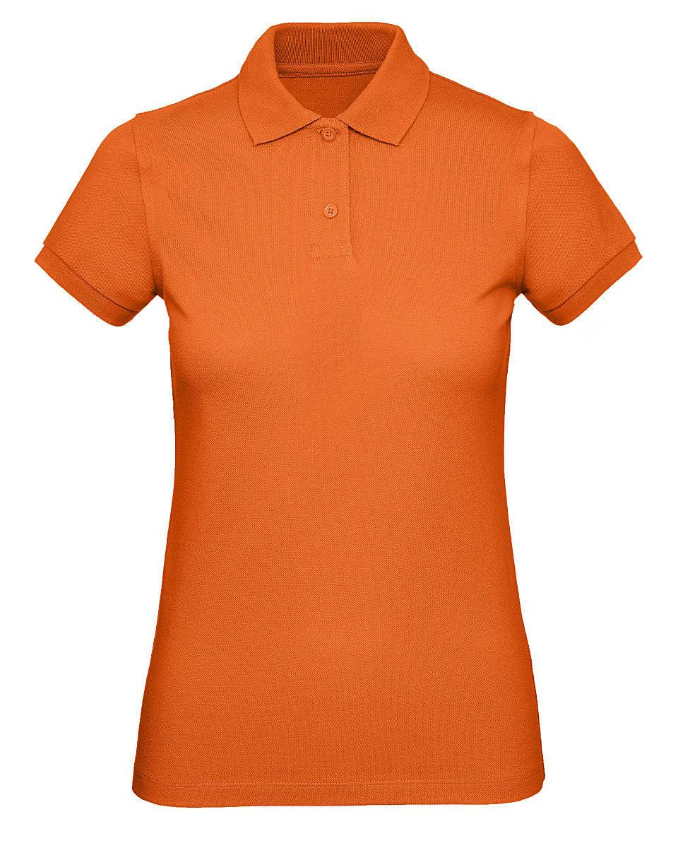 B&C Womens Inspire Polo Shirt in Urban Orange (Product Code: PW440)