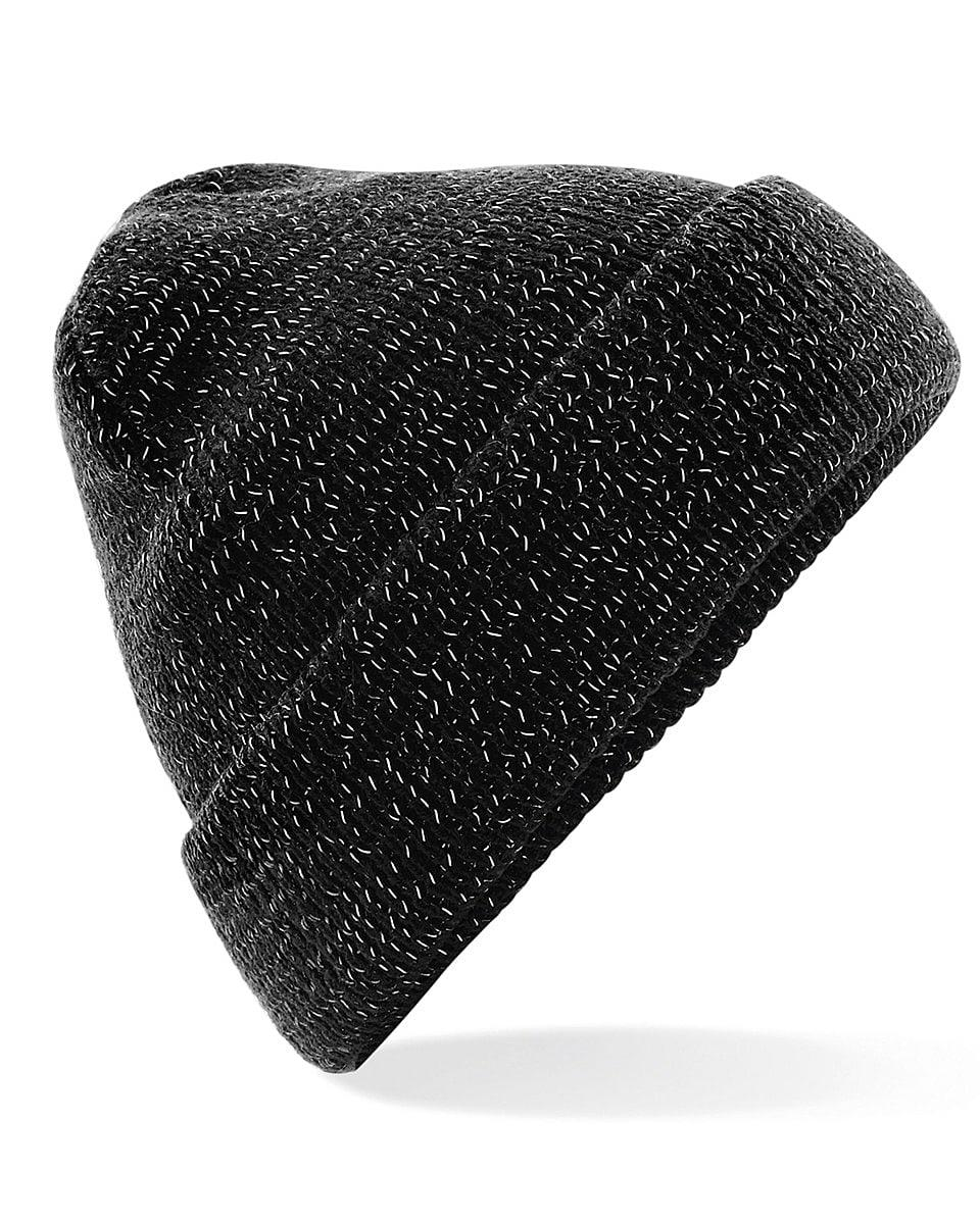Beechfield Reflective Beanie Hat in Black (Product Code: B407)