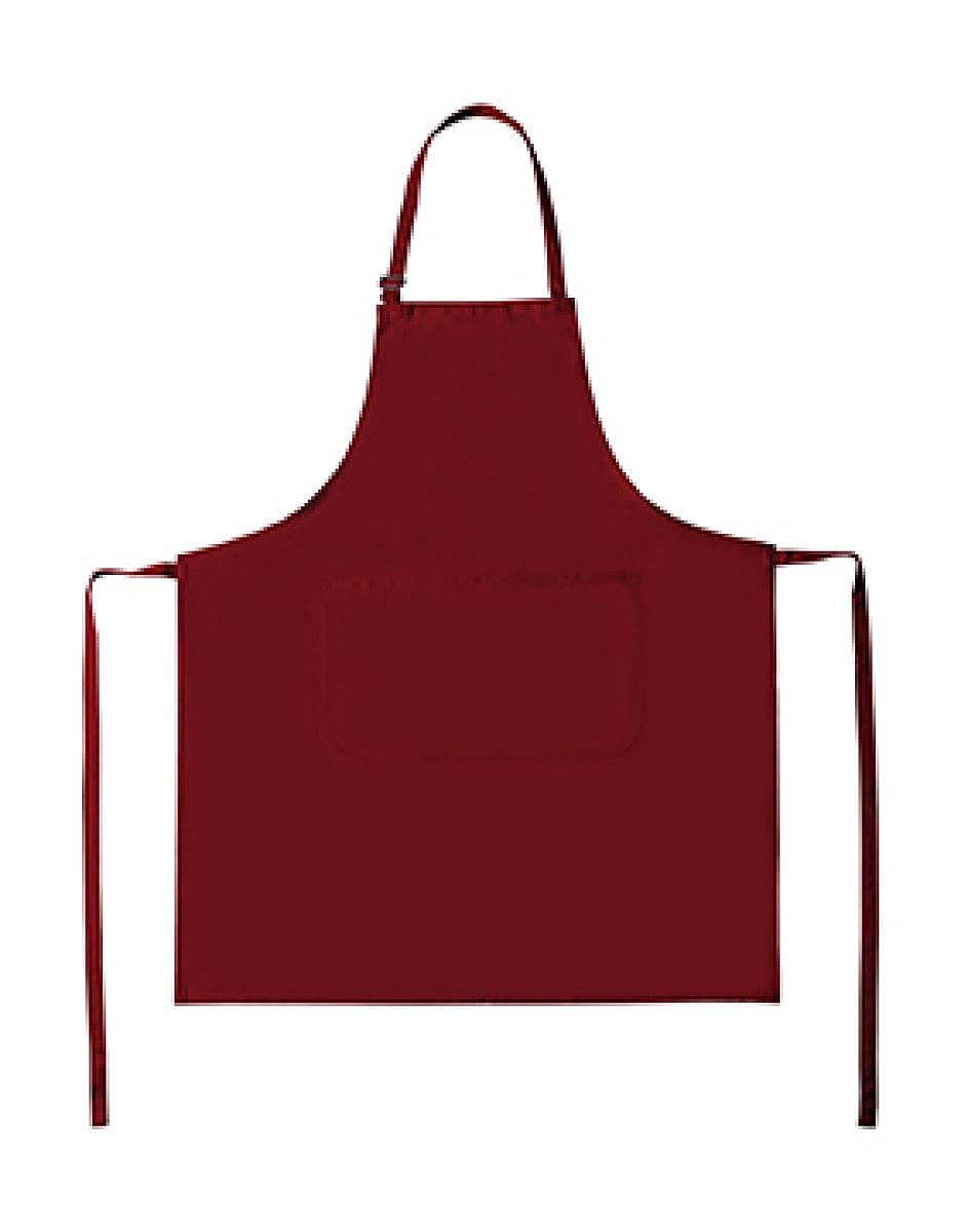 Bistro By Jassz Lisbon Cotton Bib Apron in Red (Product Code: JG20)