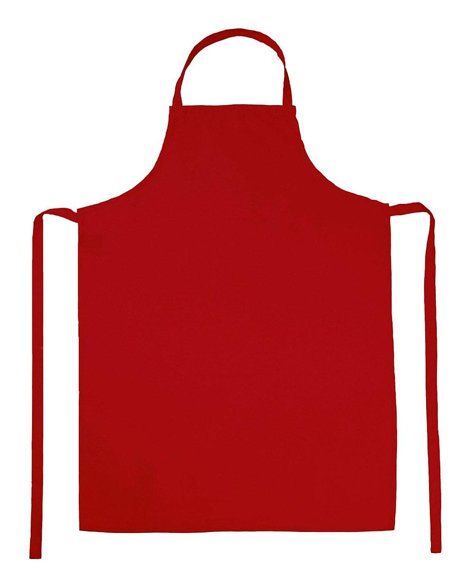 Jassz Bistro Paris Bib Apron in Red (Product Code: JG21)