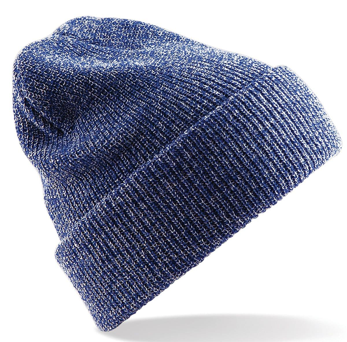 Beechfield Heritage Beanie Hat in Heather Royal Blue (Product Code: B425)