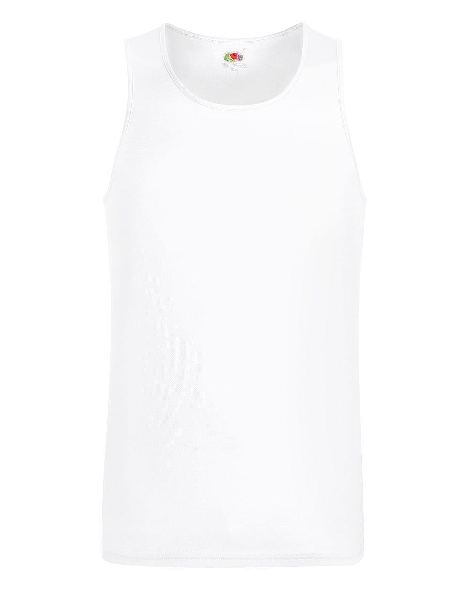 Fruit Of The Loom Mens Performance Vest in White (Product Code: 61416)