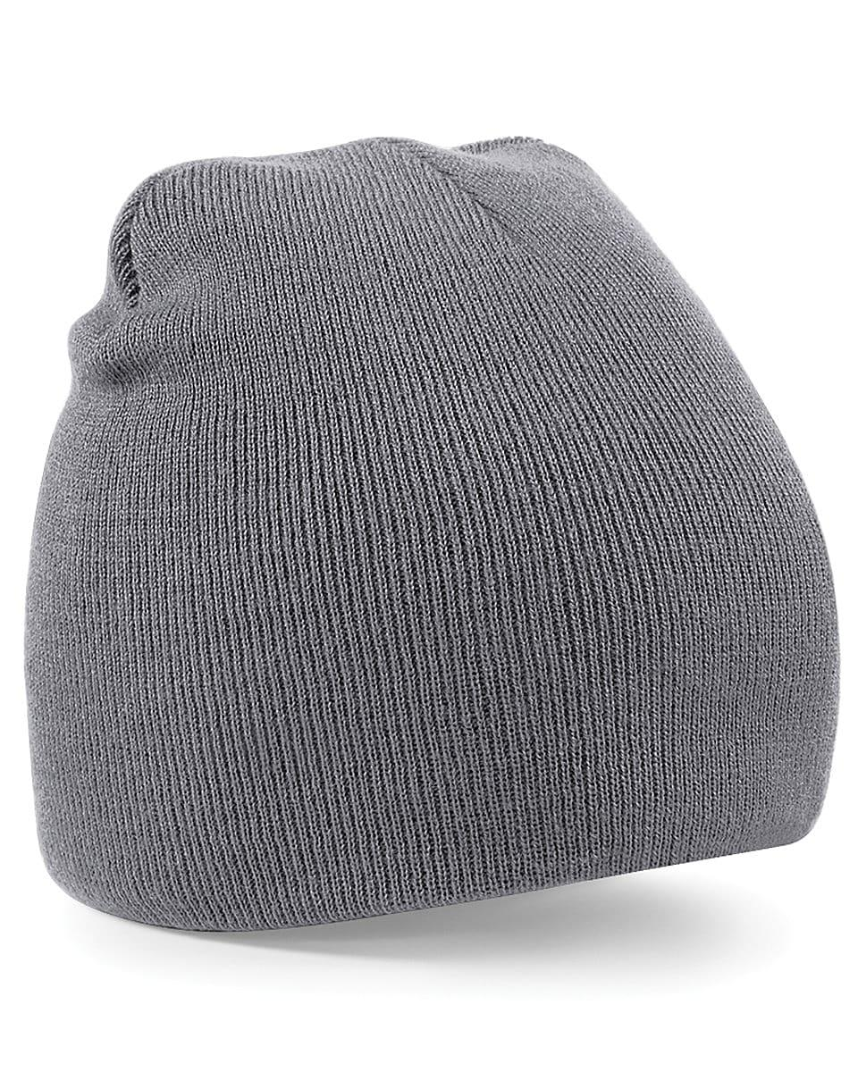 Beechfield Original Pull-On Beanie Hat in Graphite (Product Code: B44)
