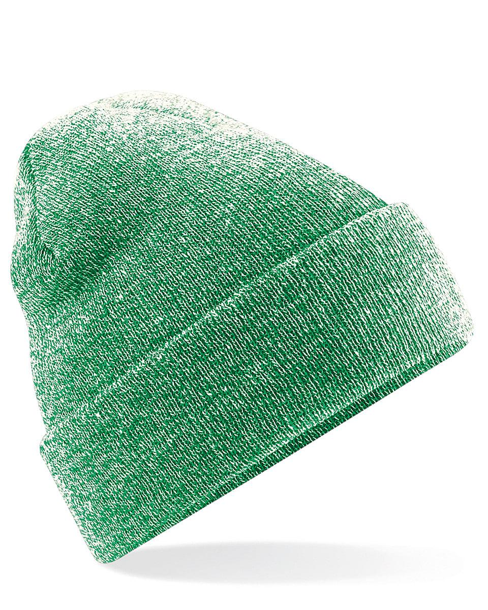 Beechfield Original Cuffed Beanie Hat in Heather Green (Product Code: B45)