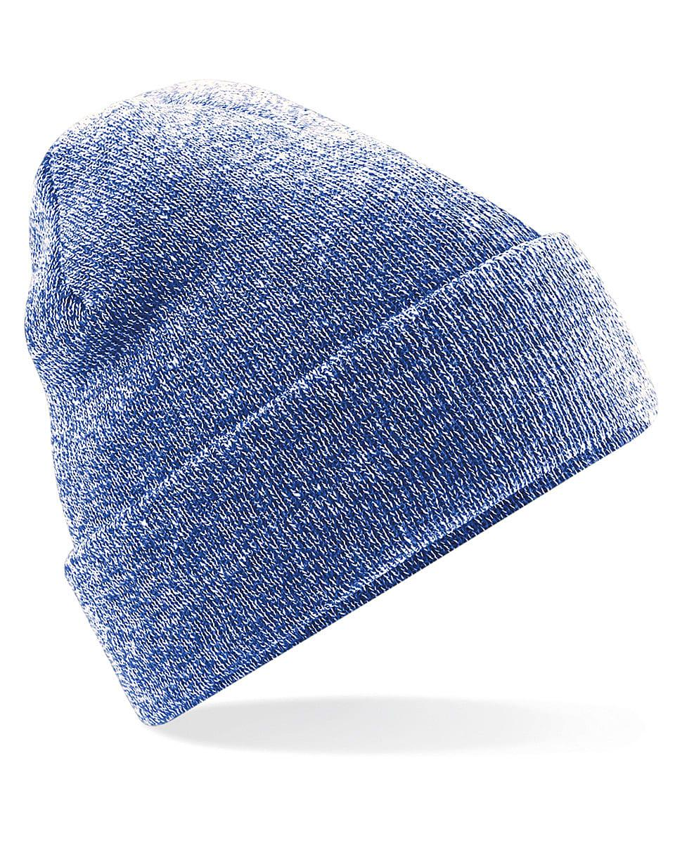 Beechfield Original Cuffed Beanie Hat in Heather Royal (Product Code: B45)