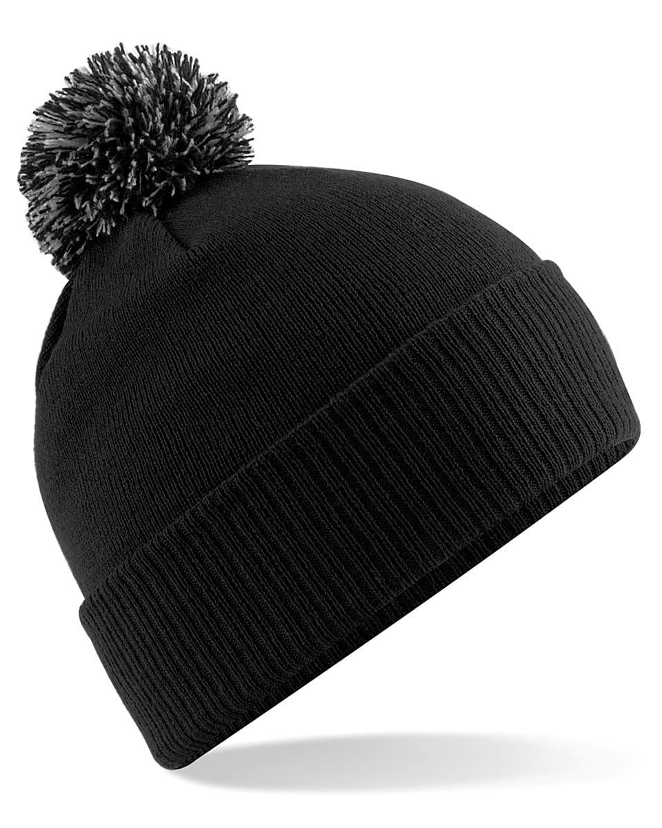 Beechfield Snowstar Beanie Hat in Black / Graphite (Product Code: B450)