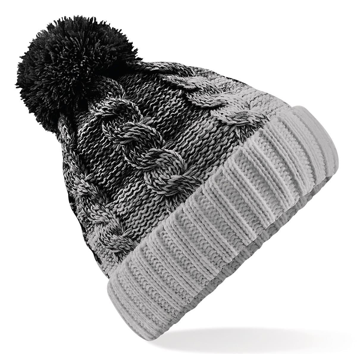 Beechfield Ombre Beanie Hat in Black / Light Grey (Product Code: B459)