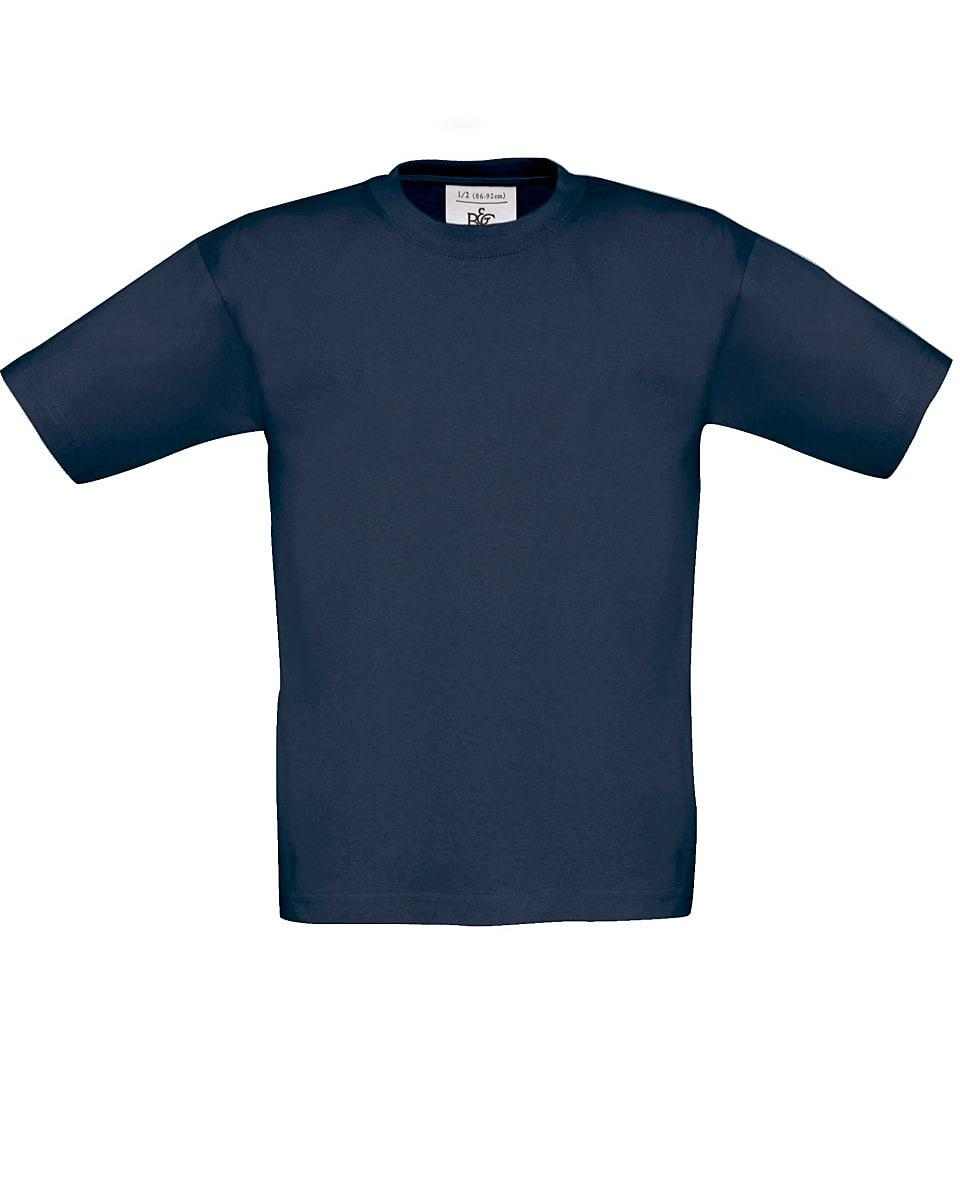 B&C Childrens Exact 190 T-Shirt in Navy Blue (Product Code: TK301)