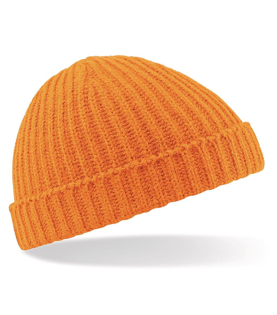 Beechfield Trawler Beanie Hat in Orange (Product Code: B460)