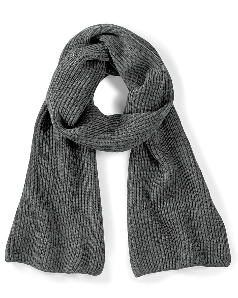 Beechfield Metro Knitted Scarf in Smoke (Product Code: B469)