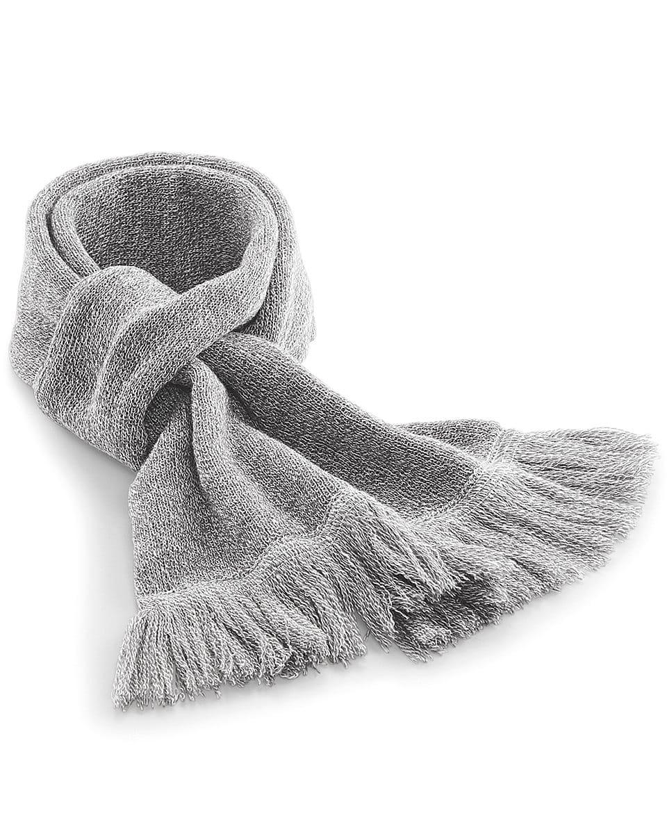 Beechfield Classic Knitted Scarf in Heather Grey (Product Code: B470)