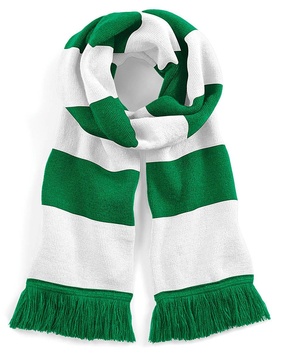 Beechfield Varsity Scarf in Kelly Green / White (Product Code: B479)