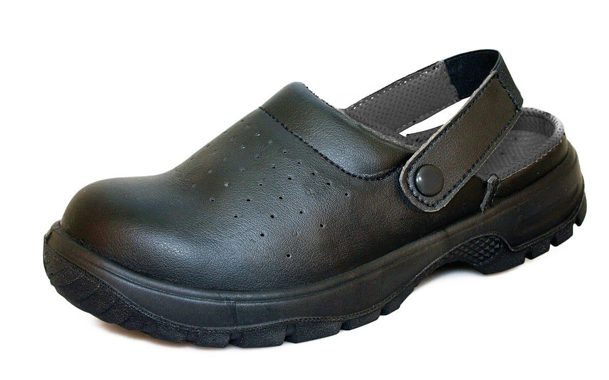 Dennys Safeway Safety Sandals in Black (Product Code: DK41)