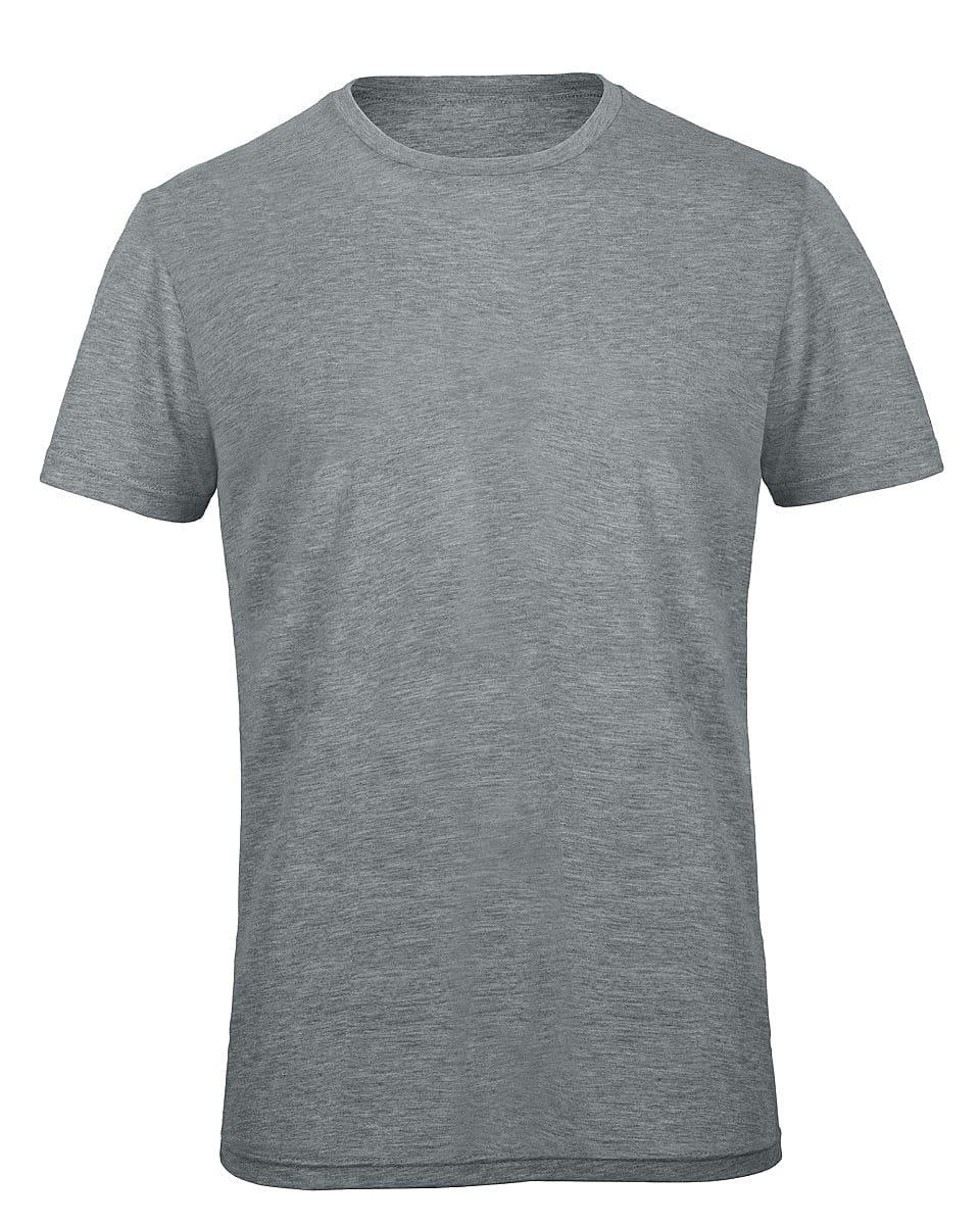 B&C Mens Inspire Triblend T-Shirt in Heather Light Grey (Product Code: TM055)