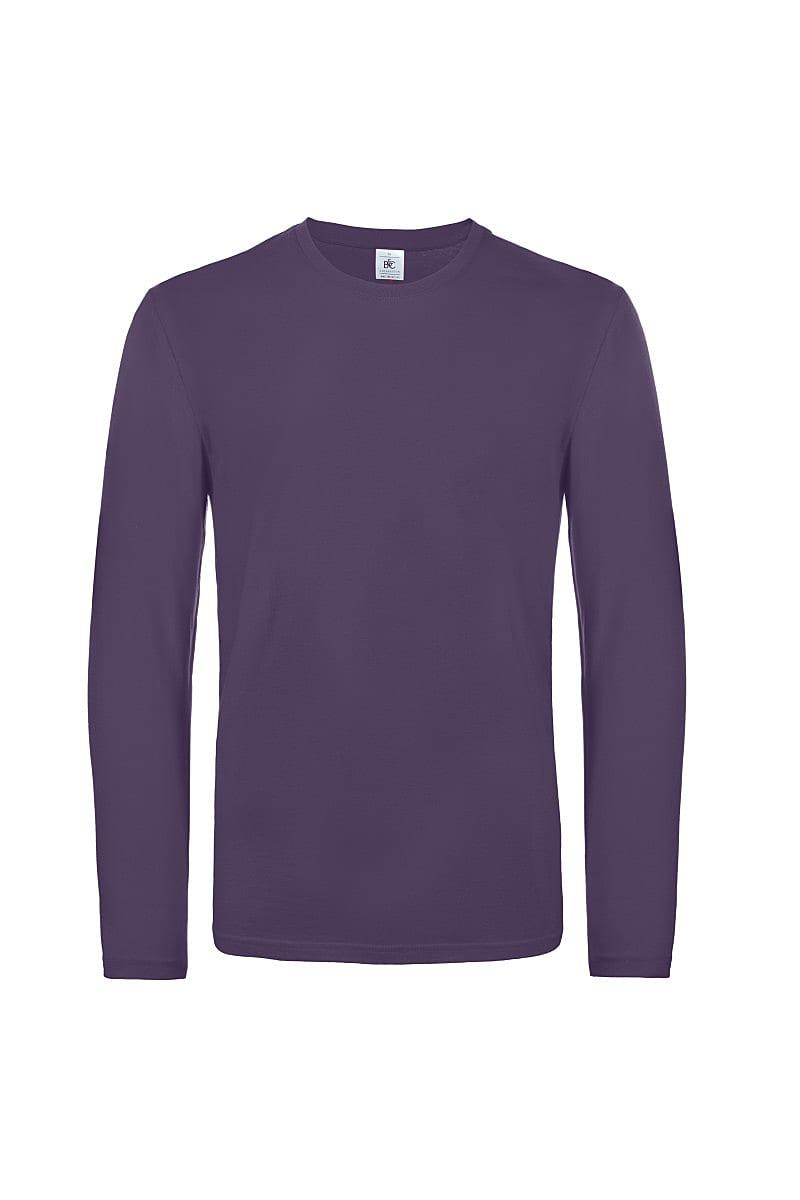 B&C Mens E190 Long-Sleeve Jersey in Urban Purple (Product Code: TU07T)