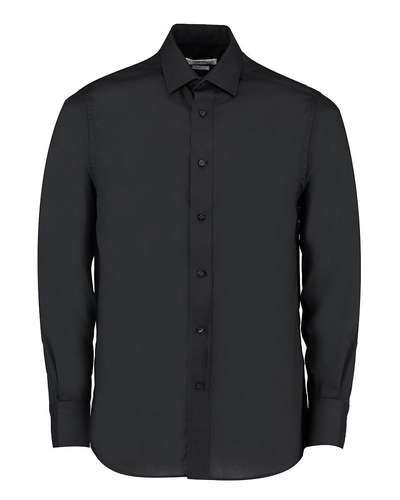 Kustom Kit Mens Tailored Fit Long-Sleeved Business Shirt